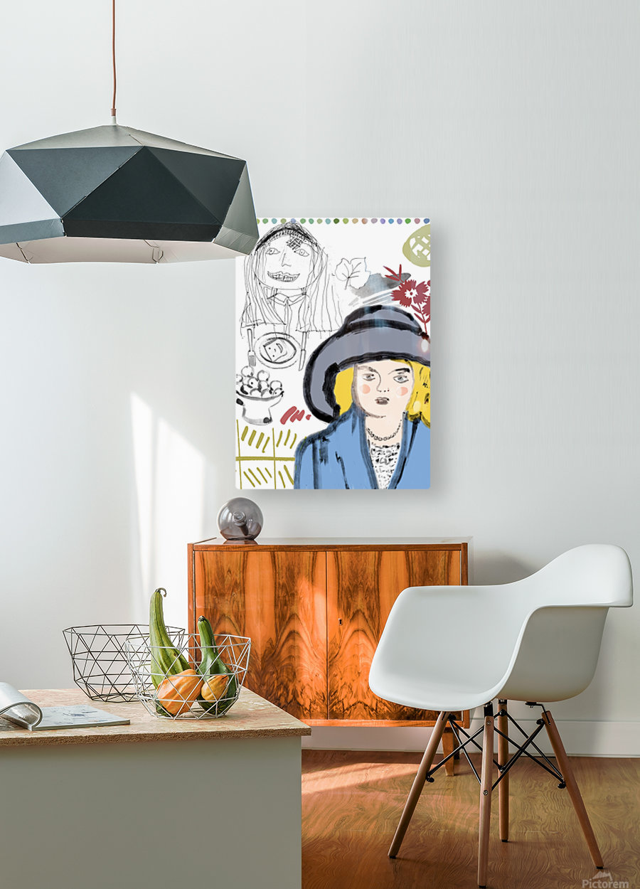 BIG HAT  HD Metal print with Floating Frame on Back