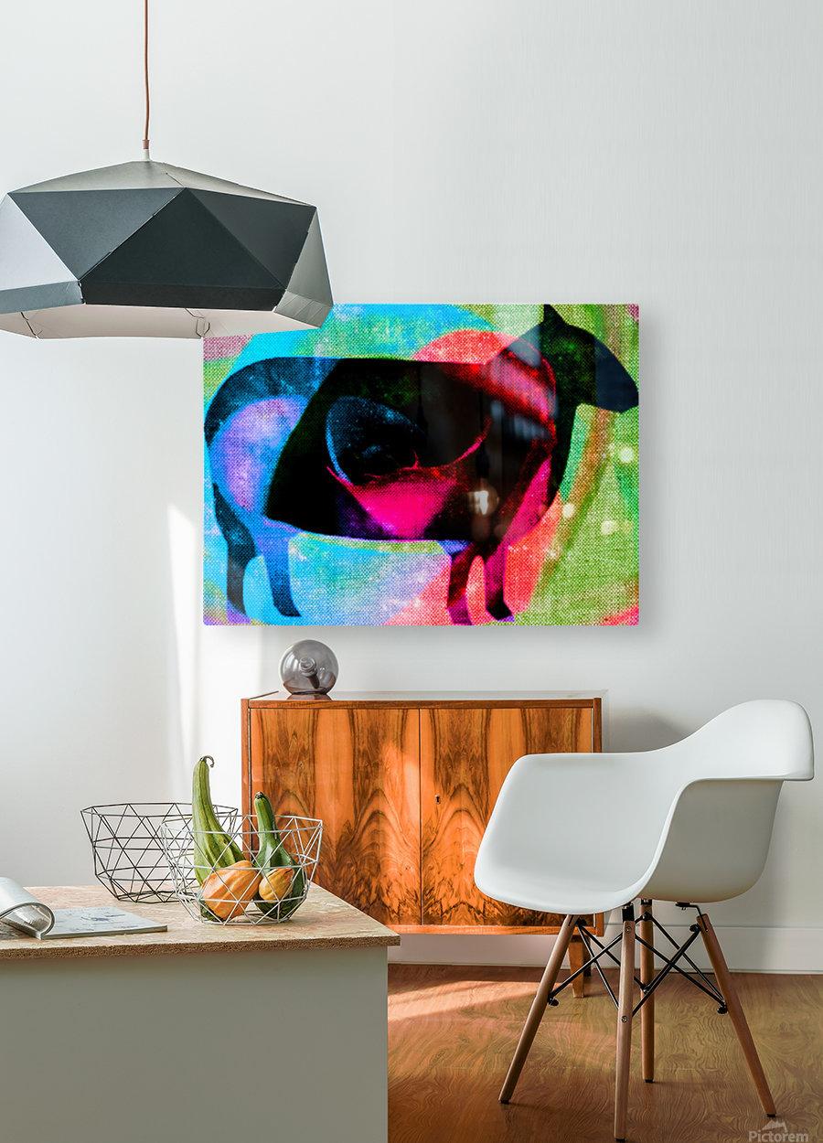 black sheep  HD Metal print with Floating Frame on Back