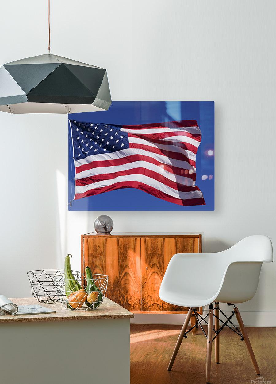 American Flag; Pahreah, Utah, United States of America  HD Metal print with Floating Frame on Back