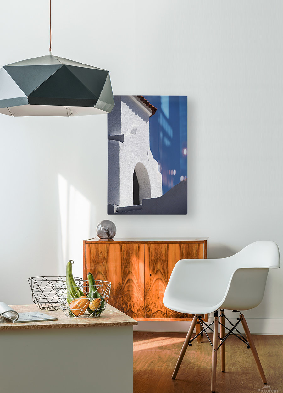 Church Bell Tower; Chacras De Coria, Mendoza, Argentina  HD Metal print with Floating Frame on Back