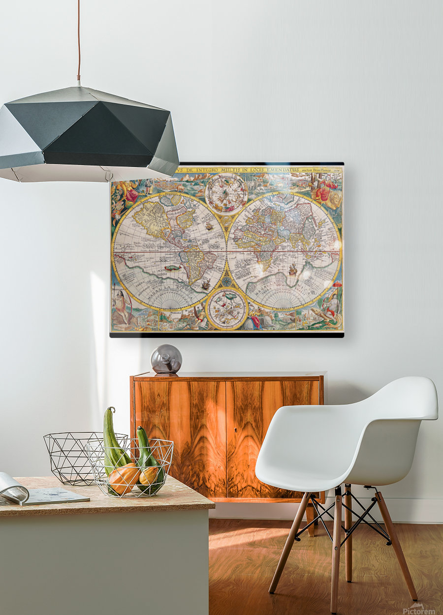 map 595794  HD Metal print with Floating Frame on Back