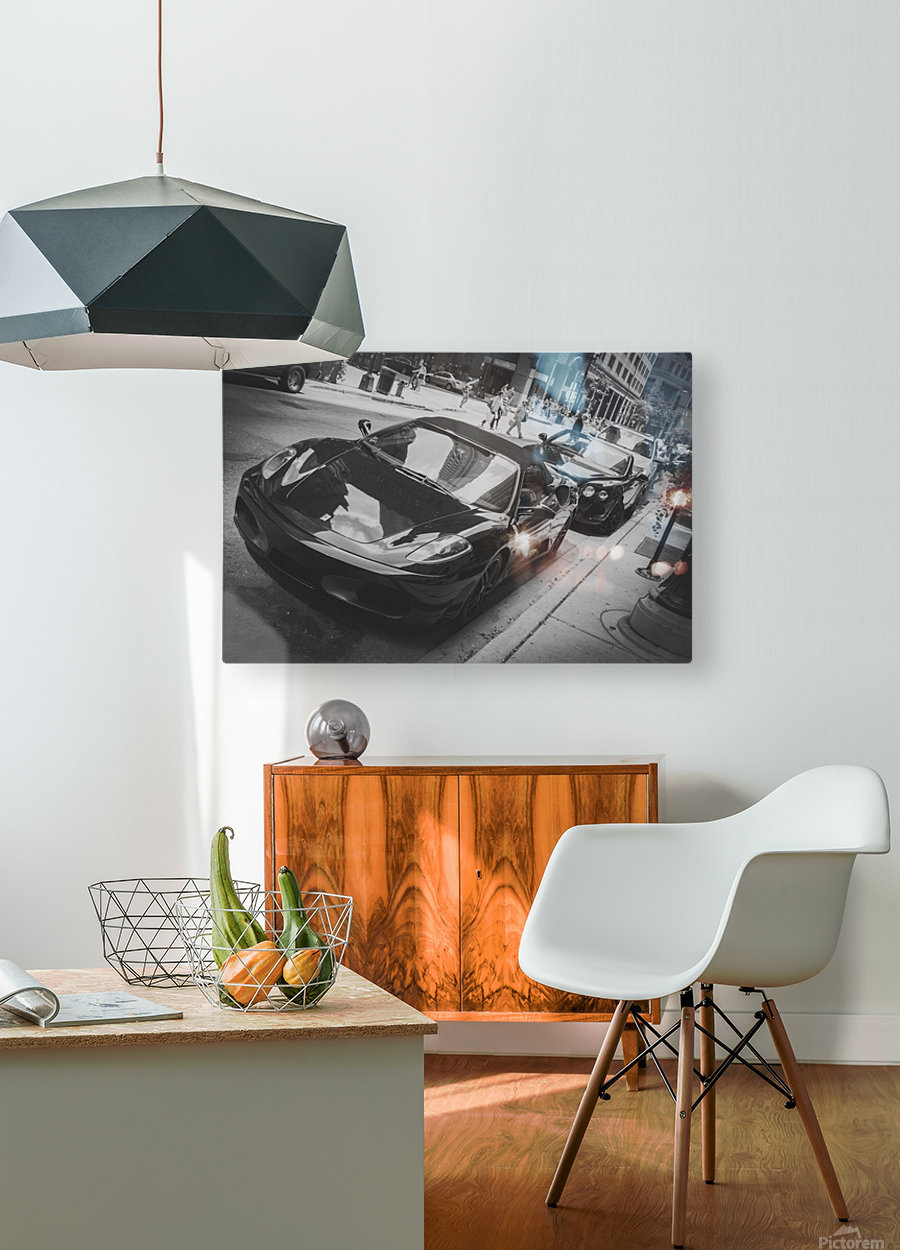 Ferrari  HD Metal print with Floating Frame on Back