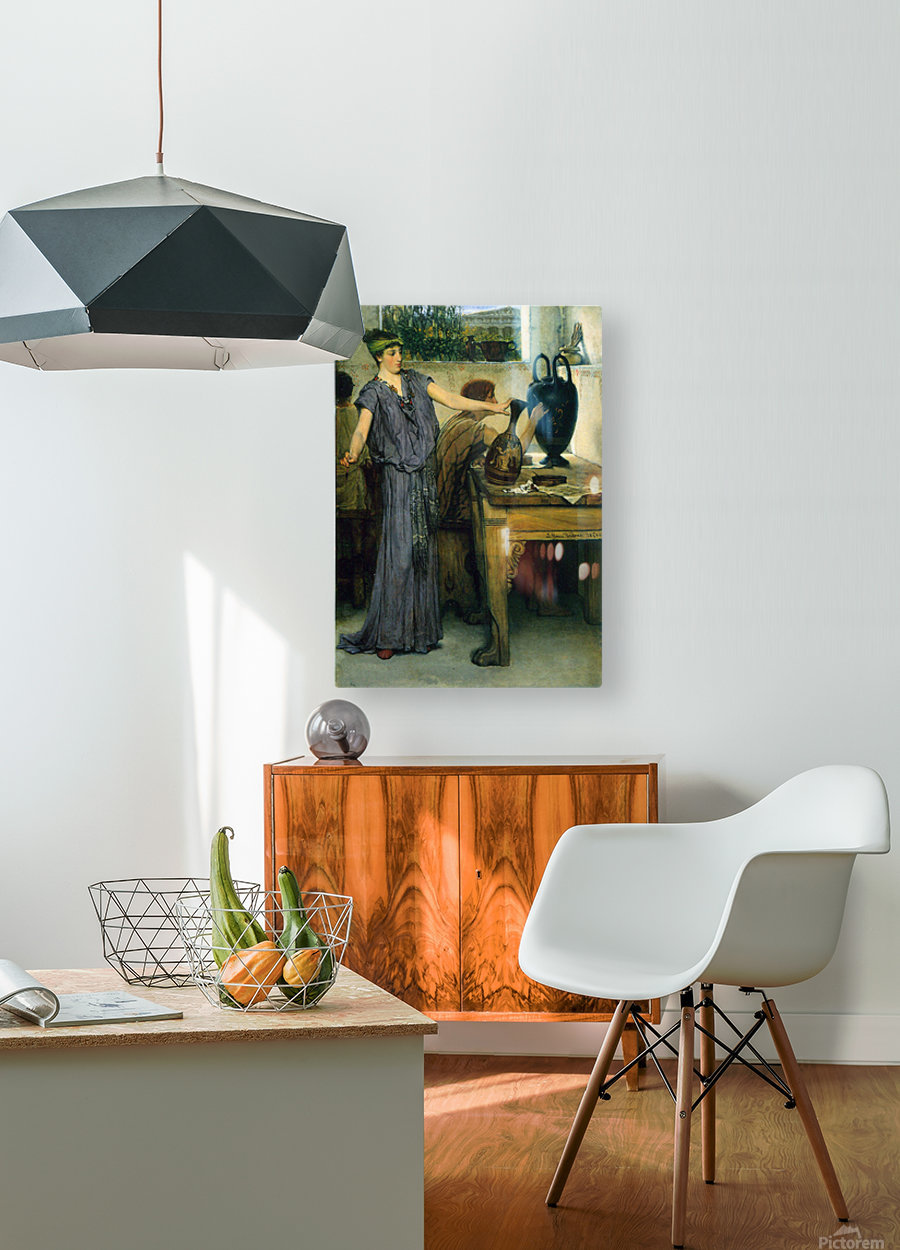 Pottery Painting by Alma-Tadema  HD Metal print with Floating Frame on Back
