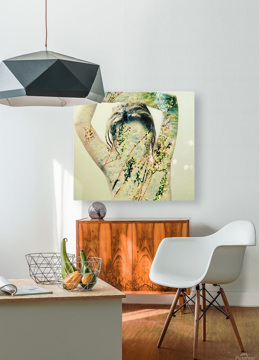 Double Exposure Serie  HD Metal print with Floating Frame on Back