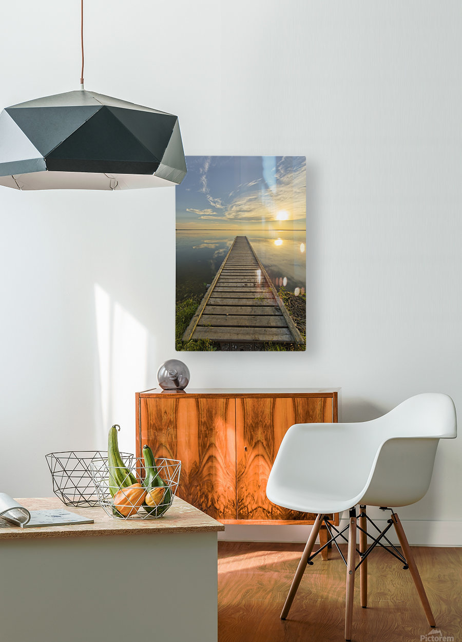 Wharf, Queen Elizabeth Provincial Park; Alberta, Canada  HD Metal print with Floating Frame on Back