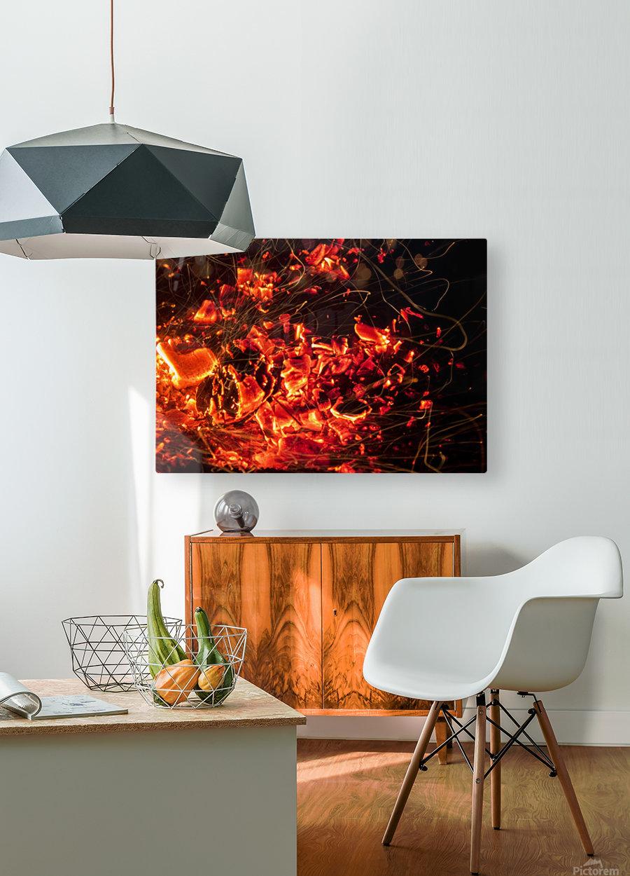 Blast  HD Metal print with Floating Frame on Back