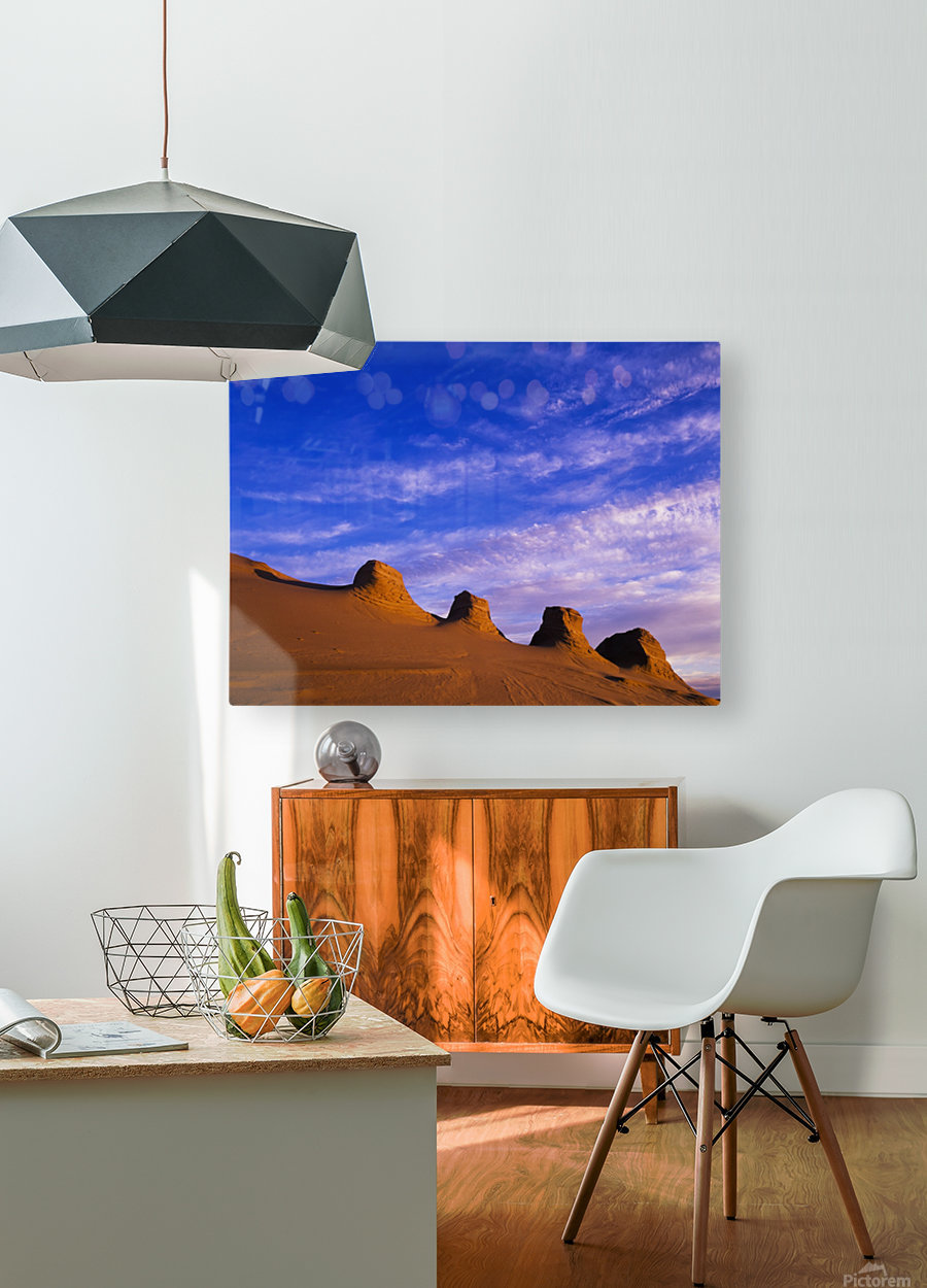 Storms carve sand dunes in peaks; Lakeside, Oregon, United States of America  HD Metal print with Floating Frame on Back