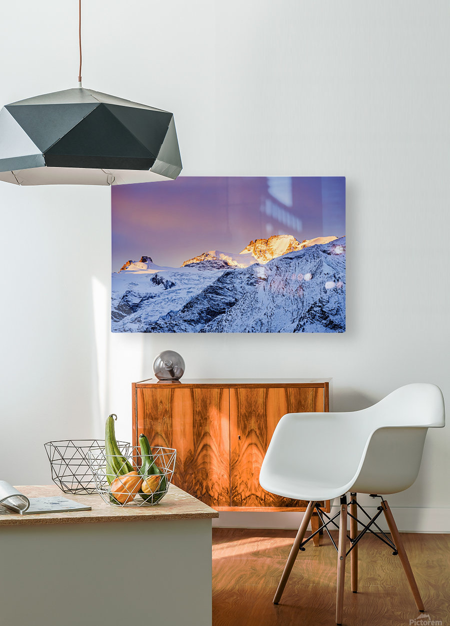 Mont Gran Paradiso, Gran Paradiso National Park; Italy  HD Metal print with Floating Frame on Back