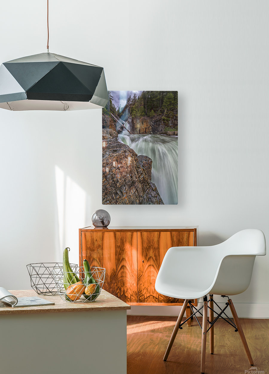 Myra Falls, Strathcona Provincial park; British Columbia, Canada  HD Metal print with Floating Frame on Back