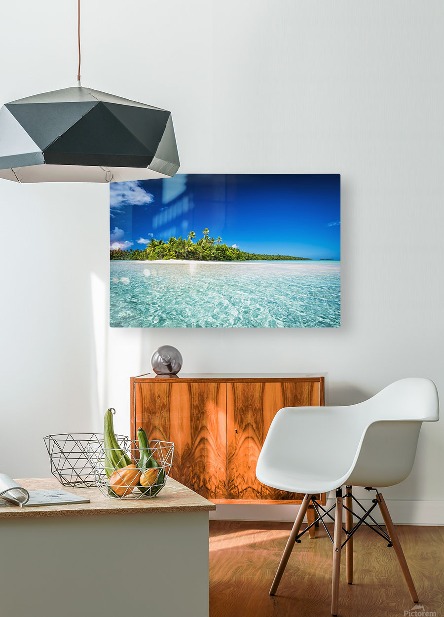 An island that forms part of the marine park, near the Tuvalu mainland; Tuvalu  HD Metal print with Floating Frame on Back