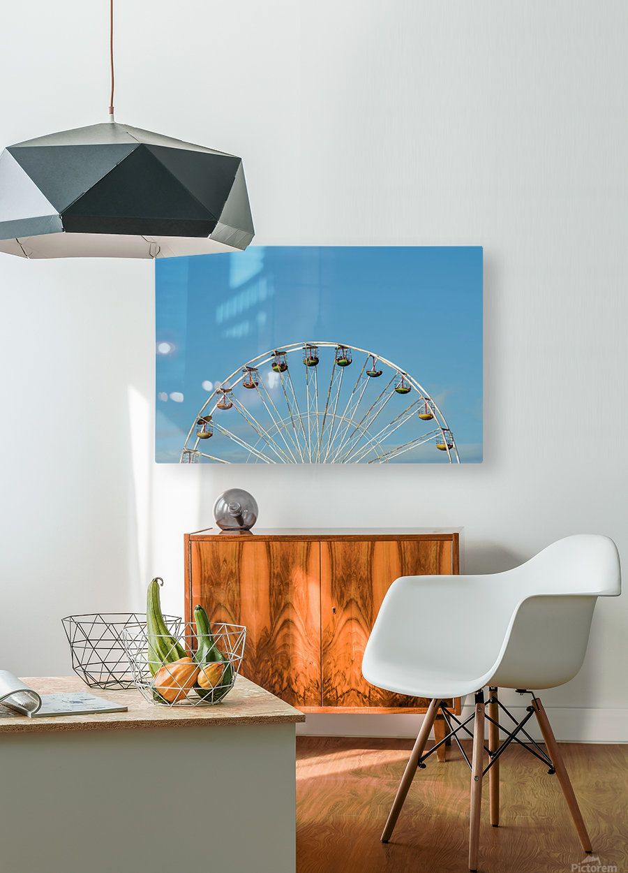 Ferris wheel at the Central Pier; Blackpool, England  HD Metal print with Floating Frame on Back
