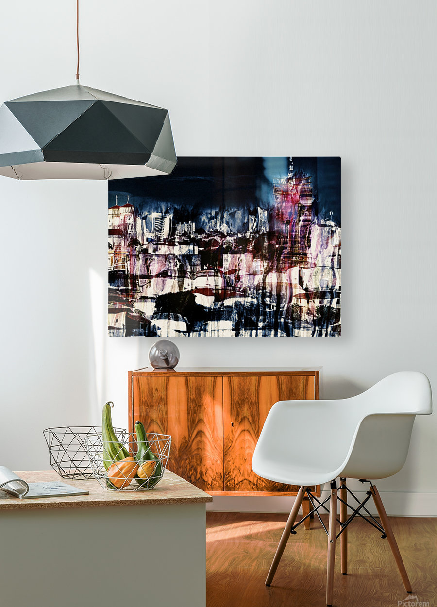 Cityscape Serie  HD Metal print with Floating Frame on Back