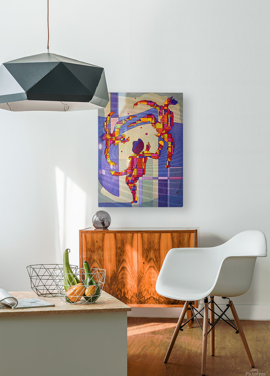 Juggling balls foot  HD Metal print with Floating Frame on Back