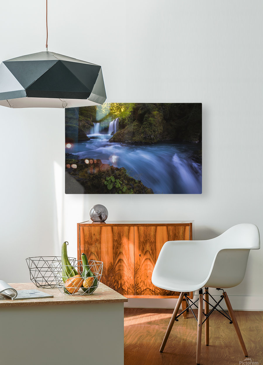 Spirit Falls; Washington, United States of America  HD Metal print with Floating Frame on Back