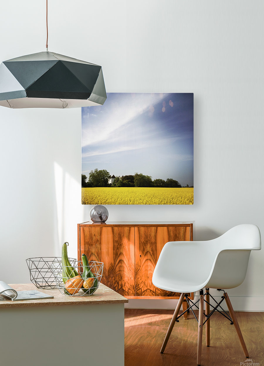Scania sky  HD Metal print with Floating Frame on Back