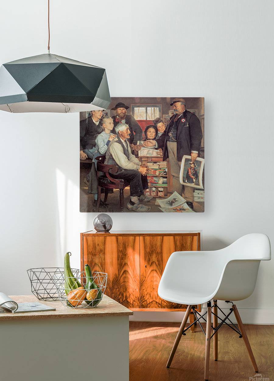 A large family  HD Metal print with Floating Frame on Back