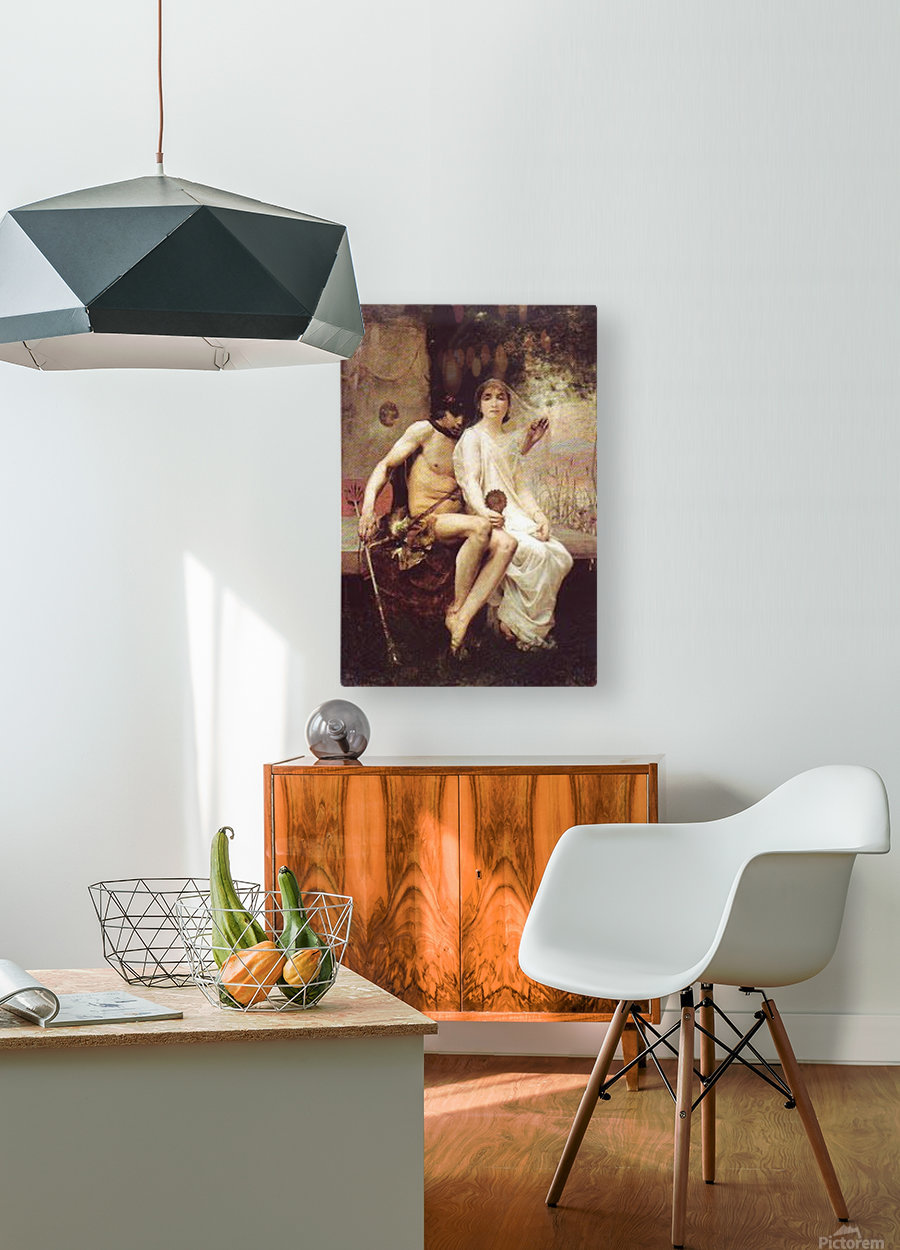 Lycenion et Daphnis  HD Metal print with Floating Frame on Back