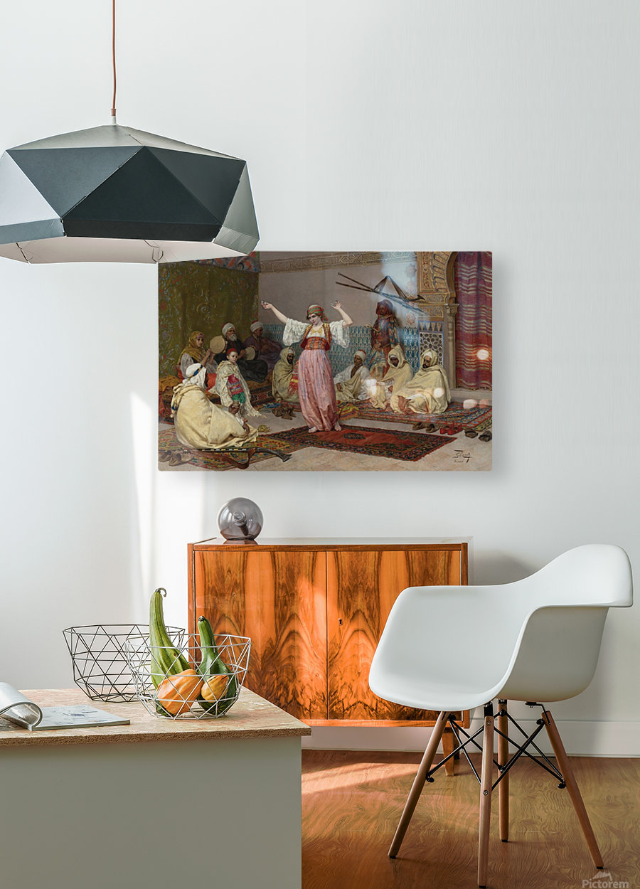 Oriental dance  HD Metal print with Floating Frame on Back