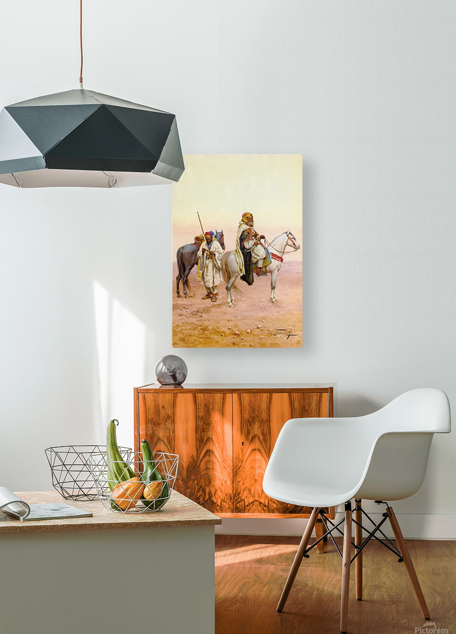 A rest in the desert  HD Metal print with Floating Frame on Back