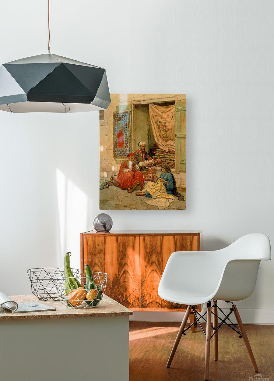 Carpet seller  HD Metal print with Floating Frame on Back