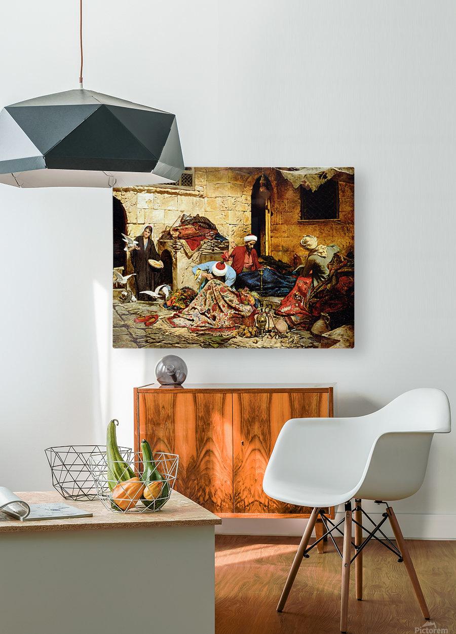 Swoboda carpet menders  HD Metal print with Floating Frame on Back