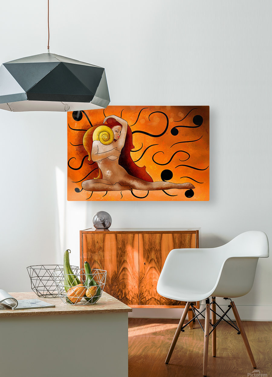 Aspenissia_V1 - violinhair  HD Metal print with Floating Frame on Back