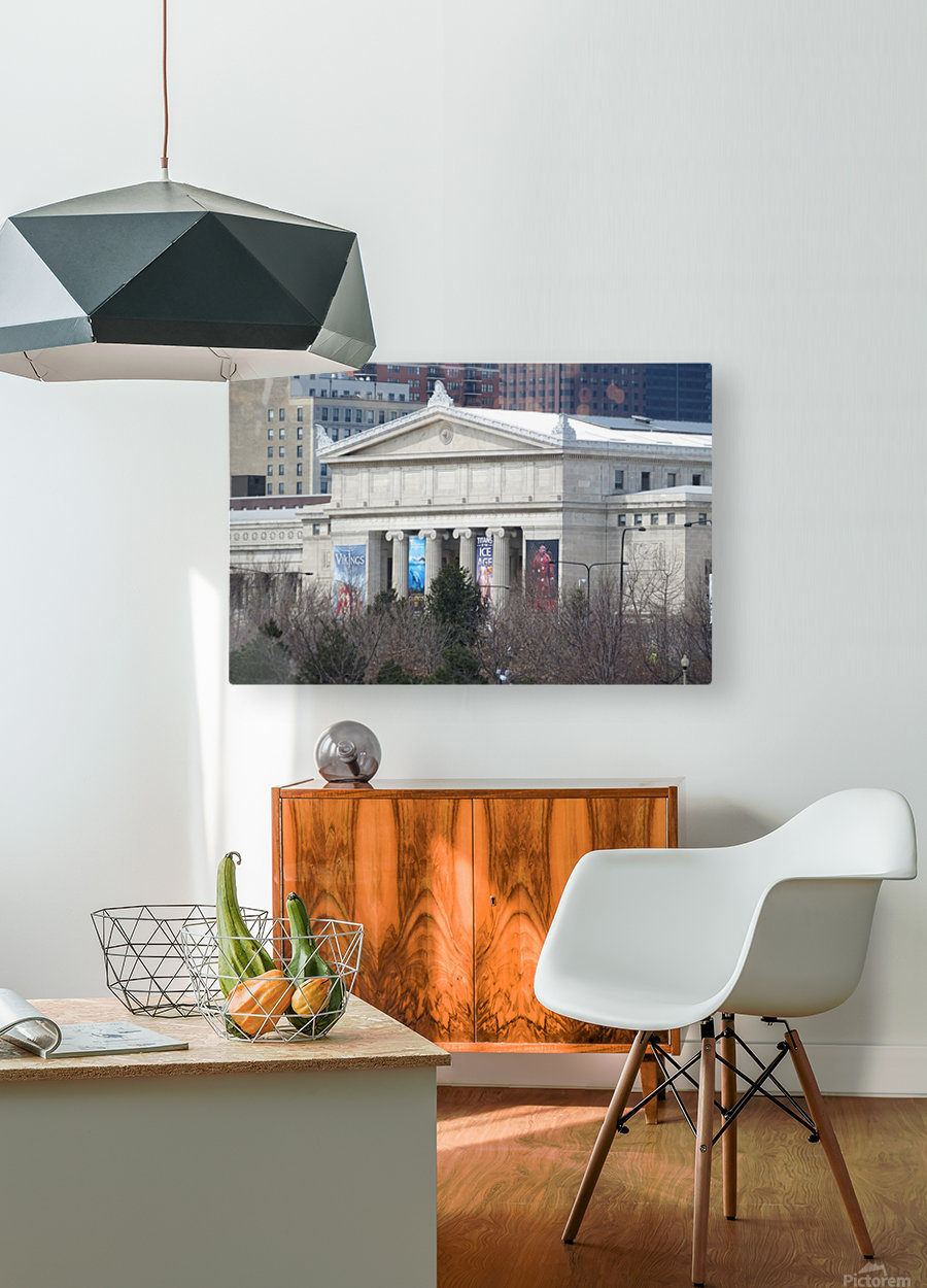 Field Museum from Northerly Island VP11  HD Metal print with Floating Frame on Back