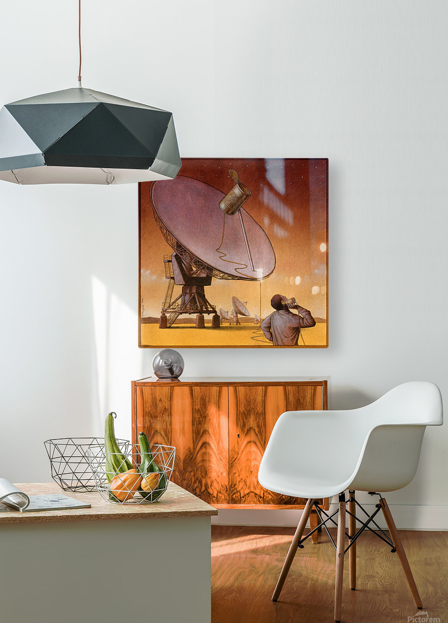 new technology  HD Metal print with Floating Frame on Back
