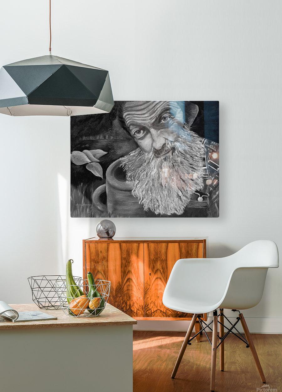 Pop Shines BandW signed   HD Metal print with Floating Frame on Back