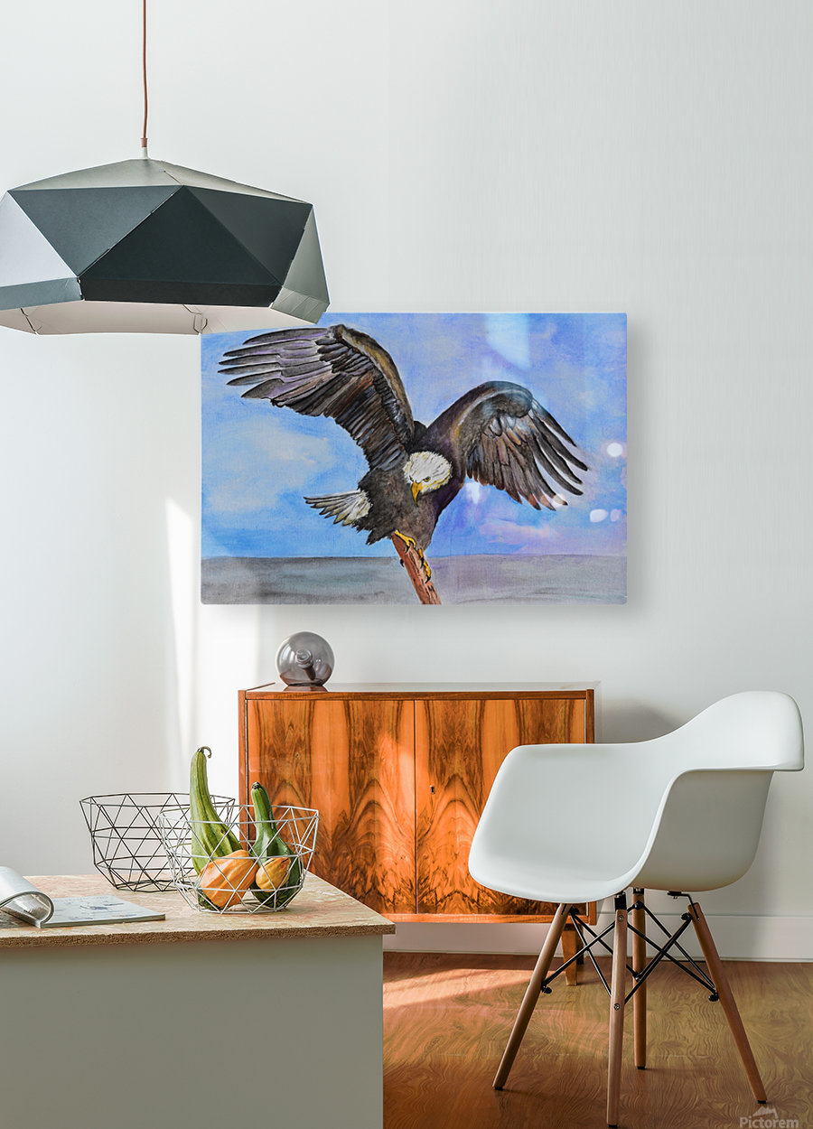 Majestic Eagle   HD Metal print with Floating Frame on Back