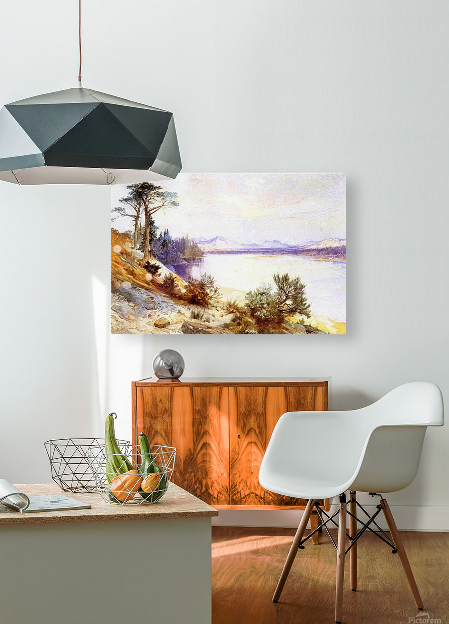 Head of the Yellowstone River  HD Metal print with Floating Frame on Back
