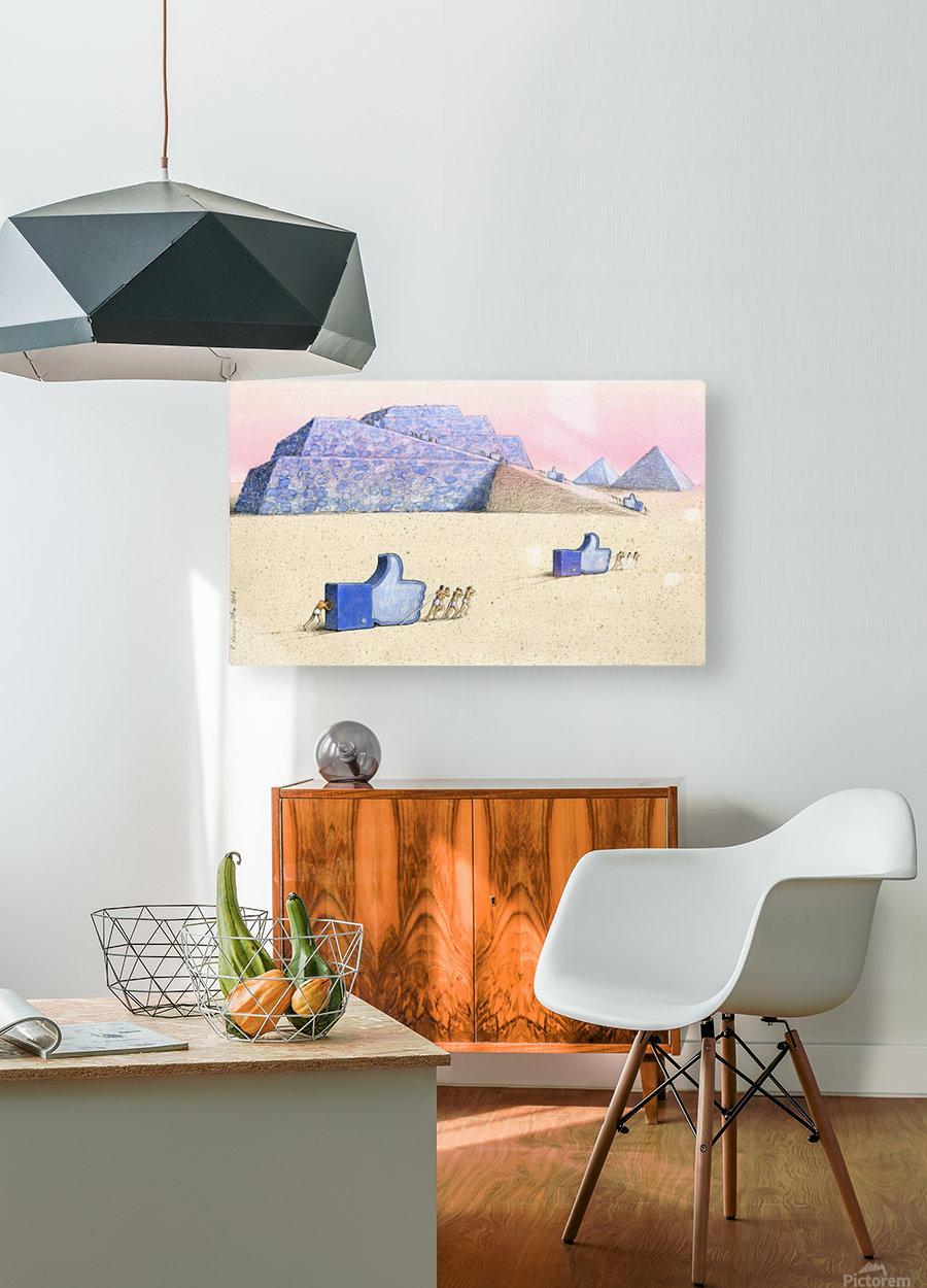 gods  HD Metal print with Floating Frame on Back