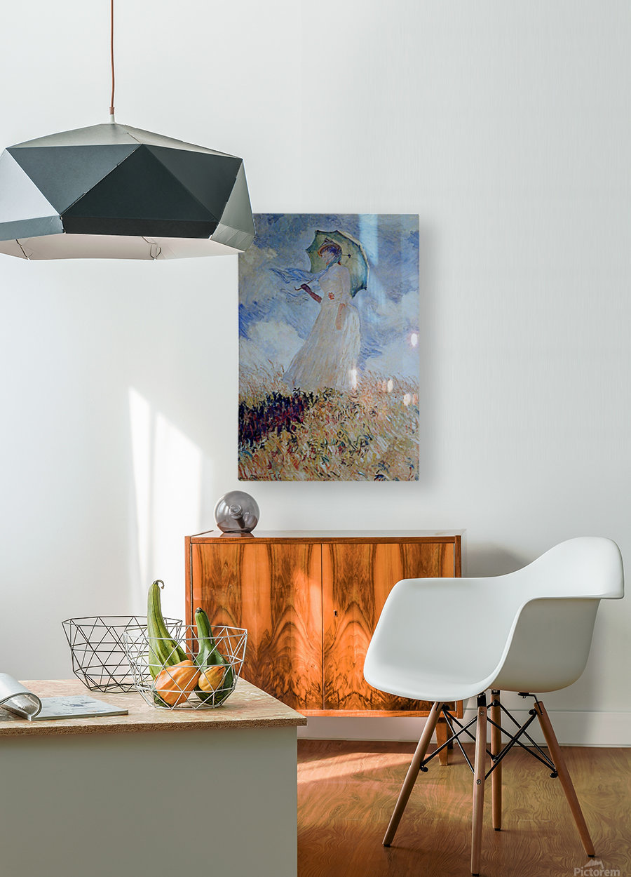 Lady with umbrella  HD Metal print with Floating Frame on Back