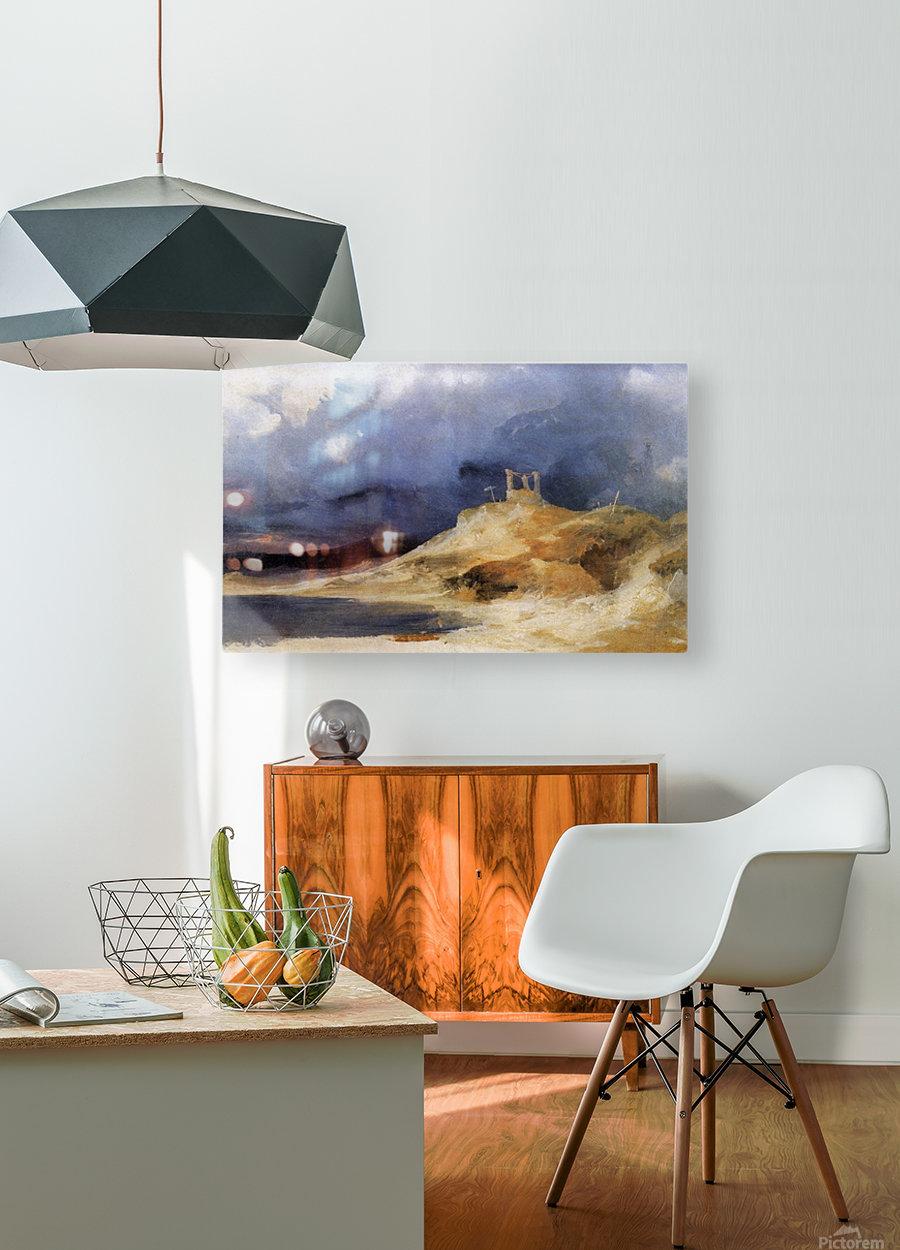 Galgenberg bei Gewitterstimmung  Impression métal HD avec cadre flottant sur le dos