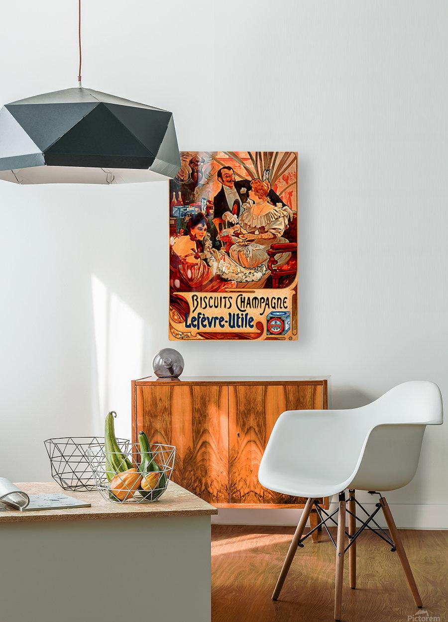Biscuits Champagne, Lefevre-Utile  HD Metal print with Floating Frame on Back
