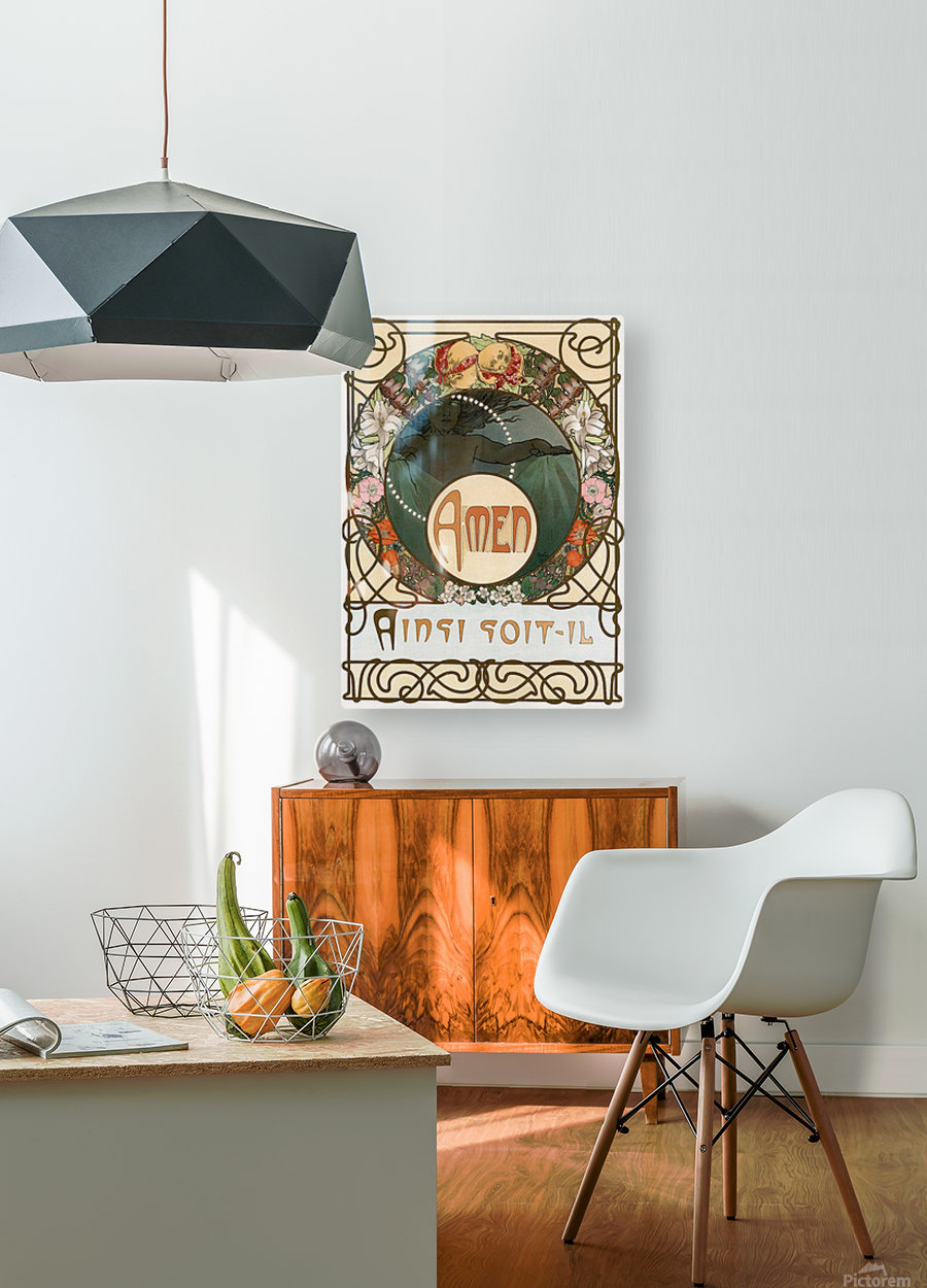 Amen  HD Metal print with Floating Frame on Back