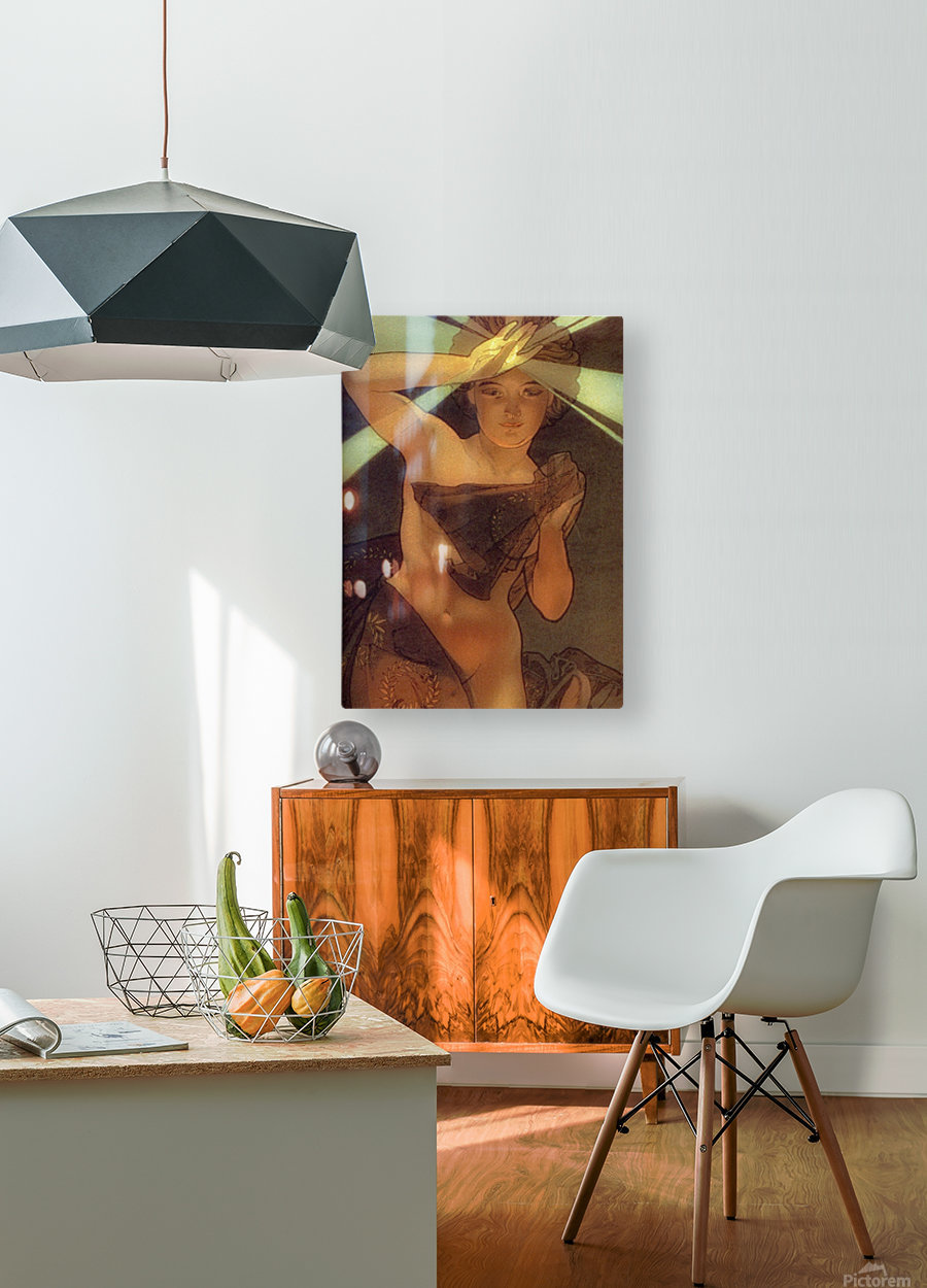 Morning Star  HD Metal print with Floating Frame on Back