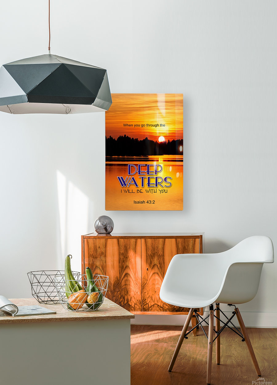 Deep Water  HD Metal print with Floating Frame on Back