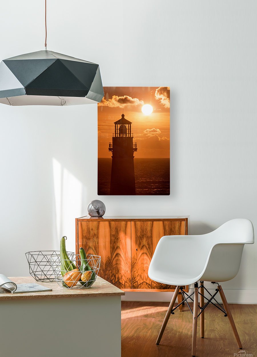 Yaquina Sunset  HD Metal print with Floating Frame on Back