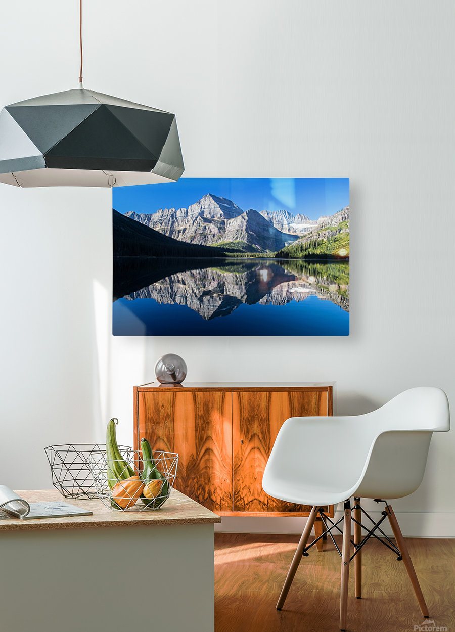 Josephine Lake  HD Metal print with Floating Frame on Back
