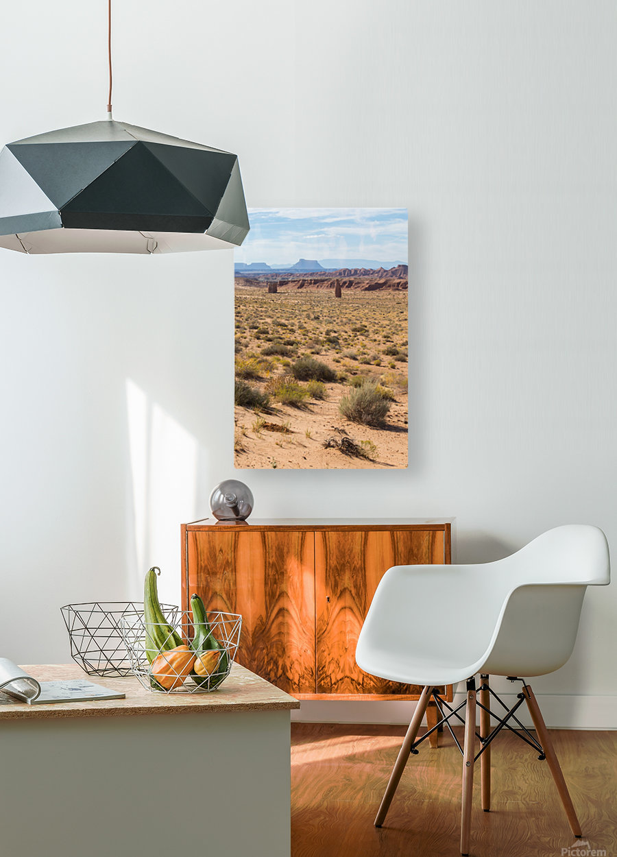 Toward Factory Butte  HD Metal print with Floating Frame on Back