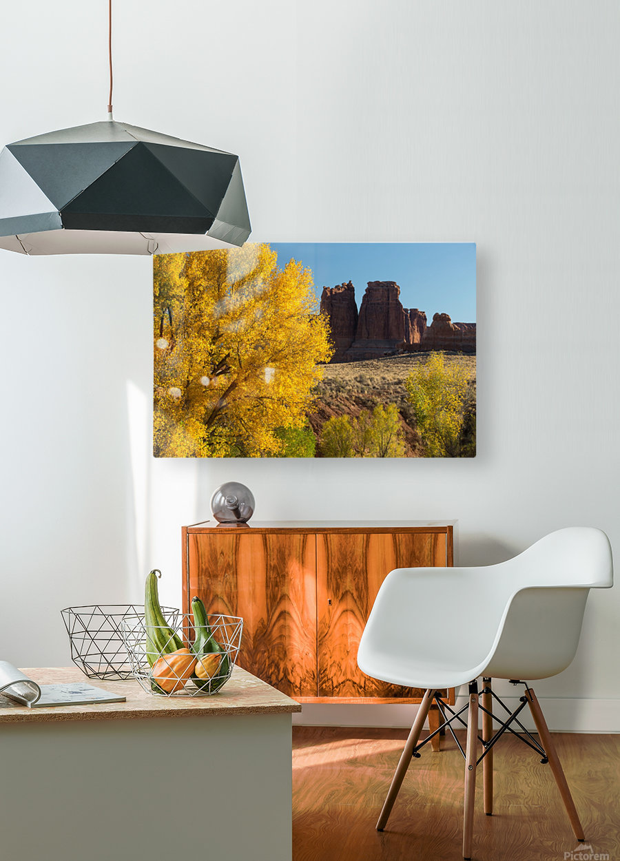 Fall at Courthouse Wash  HD Metal print with Floating Frame on Back
