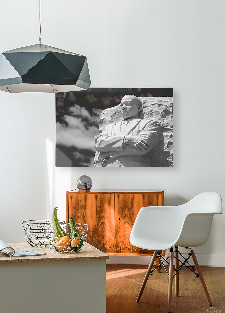 Thank You Dr. King  HD Metal print with Floating Frame on Back