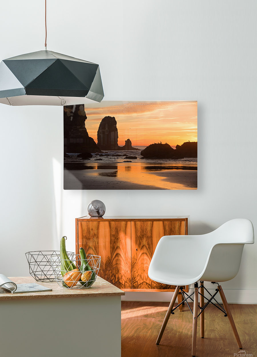 Pacific Afterglow  HD Metal print with Floating Frame on Back