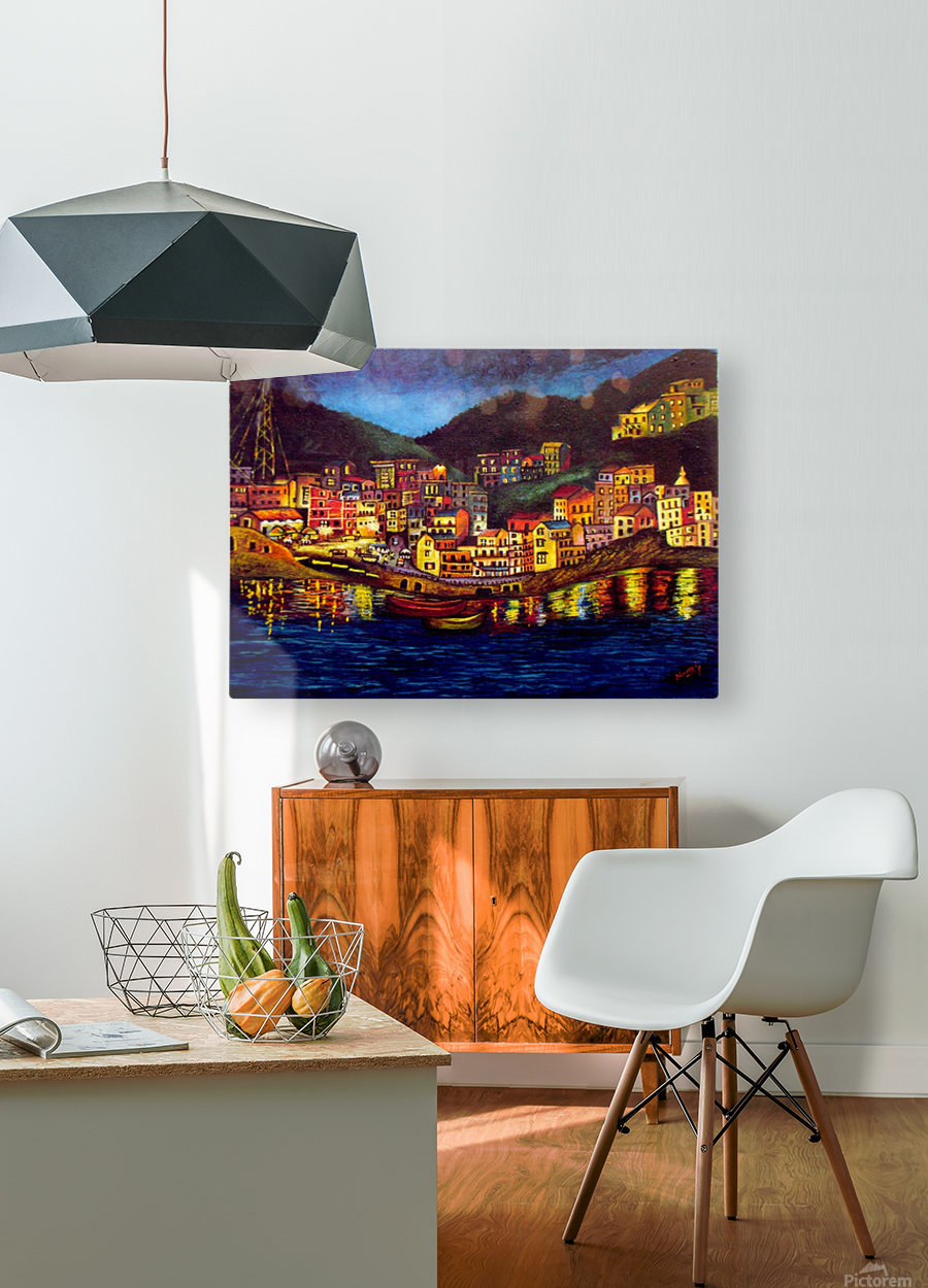 Cinique Terre Impression  HD Metal print with Floating Frame on Back
