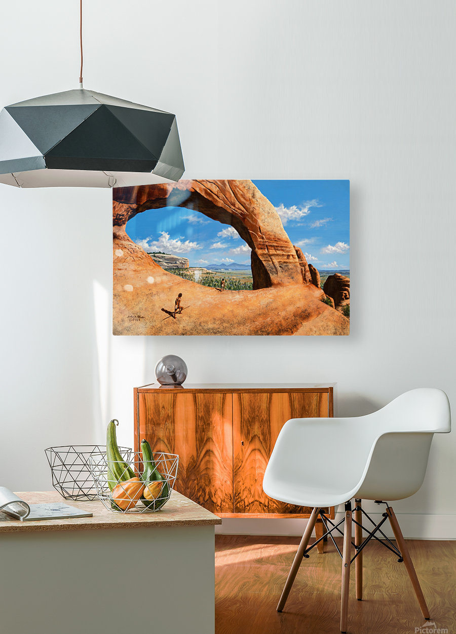 Discoverers of Wilson Arch  HD Metal print with Floating Frame on Back