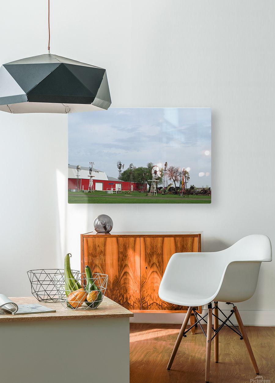 Windmills in Elk City, OK  HD Metal print with Floating Frame on Back