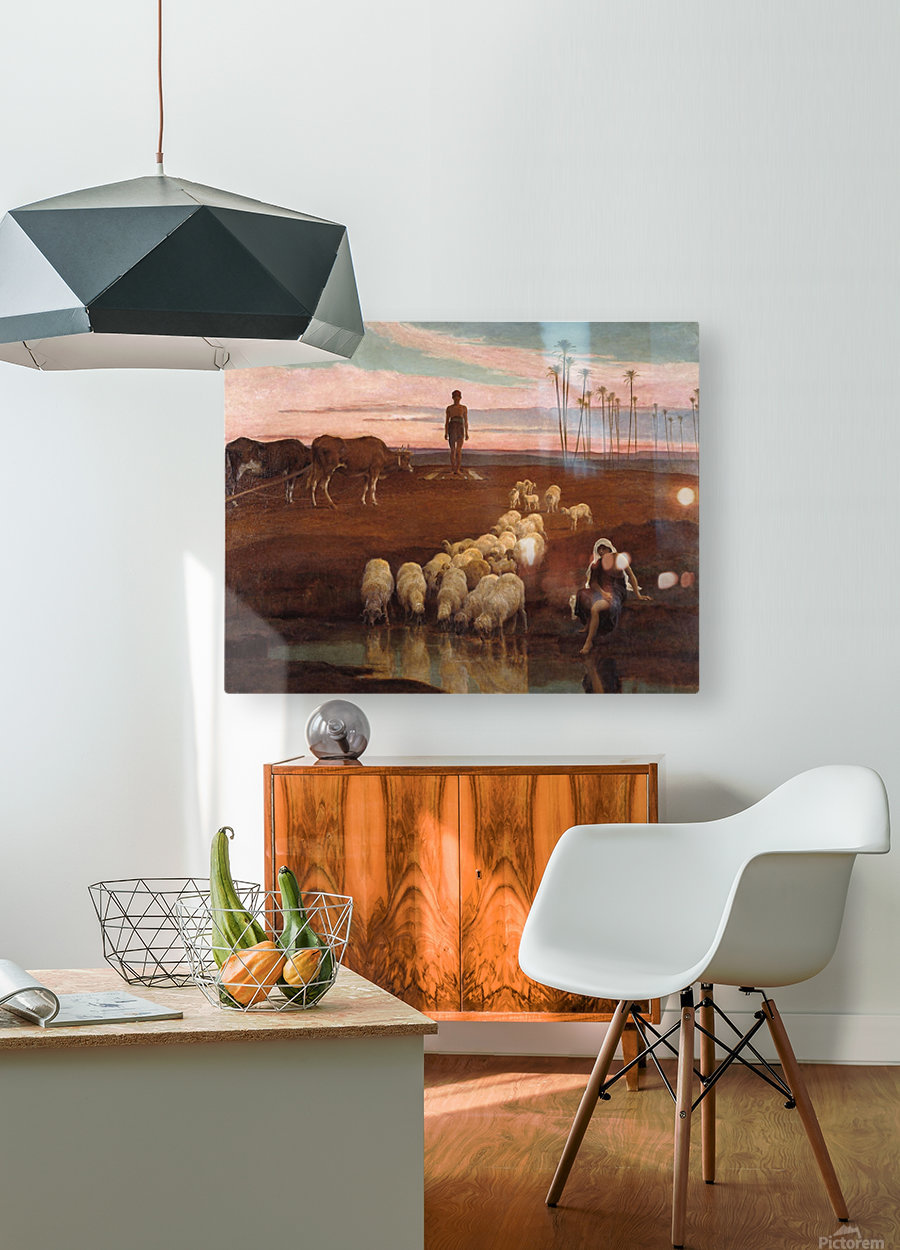 The Ploughman and the Shepherdess  HD Metal print with Floating Frame on Back