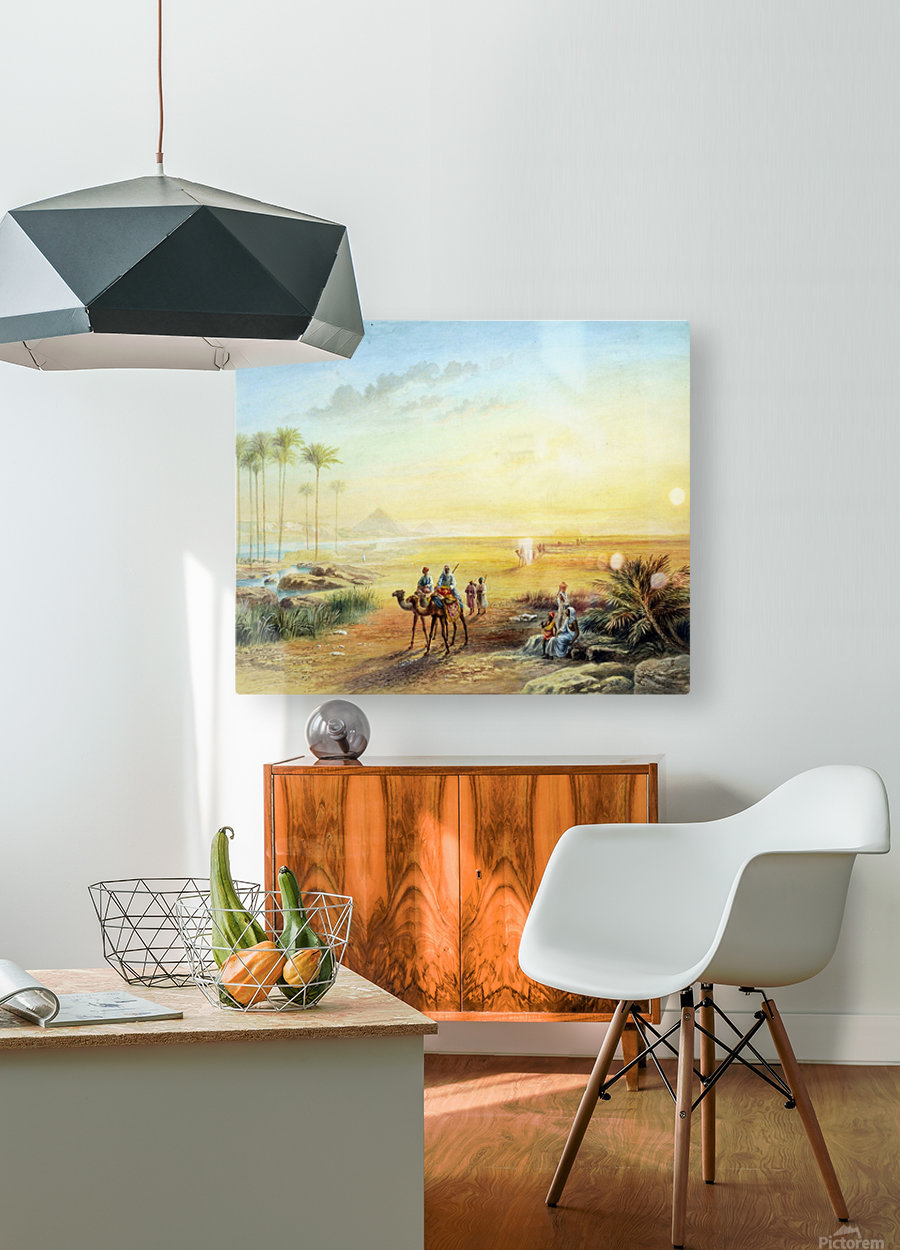 An Oasis at Giza  HD Metal print with Floating Frame on Back