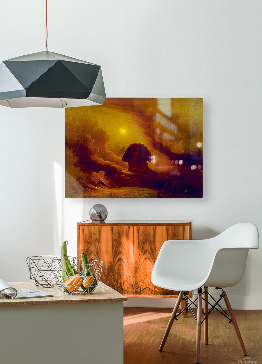 Mystery of the past  HD Metal print with Floating Frame on Back